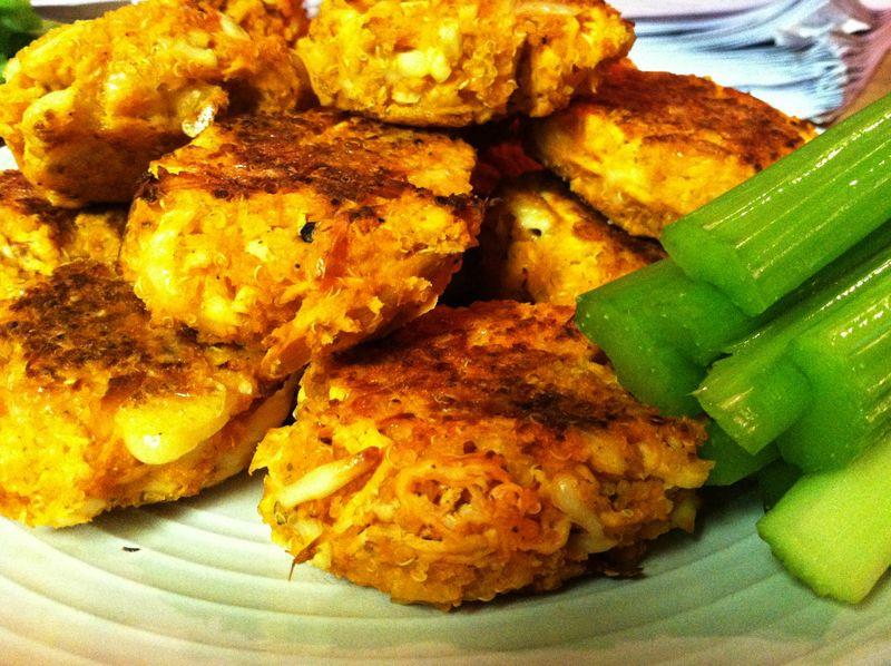 Buffalo Chicken Quinoa Patties - Bad Day Be Gone Baking
