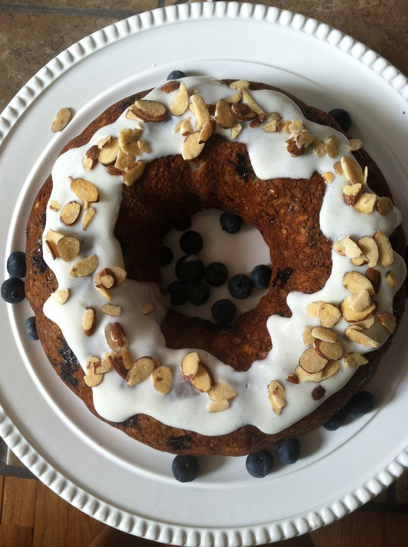 Whole Wheat Blueberry Banana Bread Cake with Chia Seeds and Vanilla ...